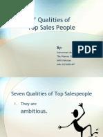 Seven Qualities of Top Sales People