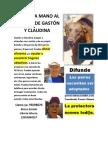 afiche/flyer campaña refugio gastón y claudina