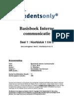 Basisboek Interne Communicatie - Reijnders