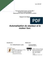 Automatisation Stackeur Four Cimenterie DG
