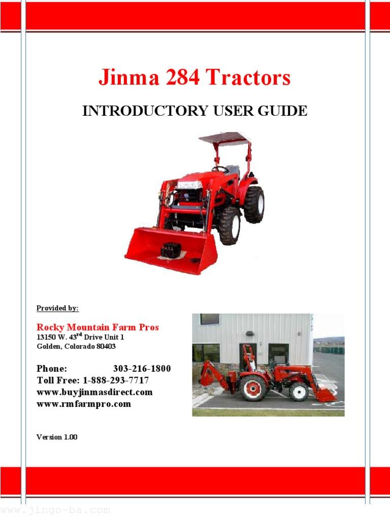 jinma284manual tractor diesel engine rh scribd com Jinma 284 Owners Manual Jinma 284 Fuse Diagram