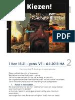 1 Kon 18,21 – preek VB – 6-1-2013 HA - HvG 7. Achab - web