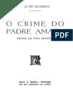 O Crime do Padre Amaro, Eça de Queirós