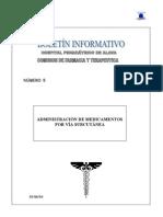 Boletín Informativo 5. Administración de Medicamentos por Vía Subcutánea