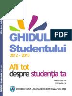 Ghidul Studentului UAIC 2012 - 2013