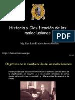 HISTORIA Y CLASIFICACIÓN MALOCLUSIONES LUIS ARRIOLA
