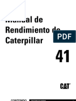 Manual Rendimiento Caterpillar Ed.41 SP