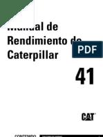 Manual Rendimiento Caterpillar Ed.41 SP
