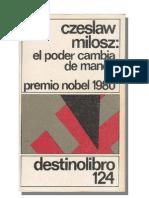 Czeslaw Milosz - El Poder Cambia de Manos