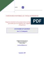 support  Economie et gestion d'entreprise en Tunisie