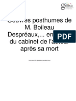 Boileau Oeuvres Posthumes