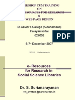 E-resources for Research in Scoial Sciences by Dr. S. Surianarayanan