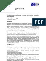 Mexico's energy dilemma - Resource nationalism vs market liberalisation