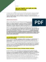 INFORME SOBRE NÚMERO DE POLÍTICOS EN ESPAÑA