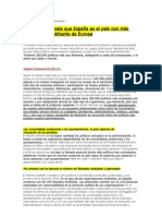 INFORME SOBRE EL NÚMERO DE CARGOS POLÍTICOS EN ESPAÑA