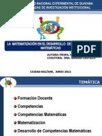 Matematización y Competencias Matemáticas