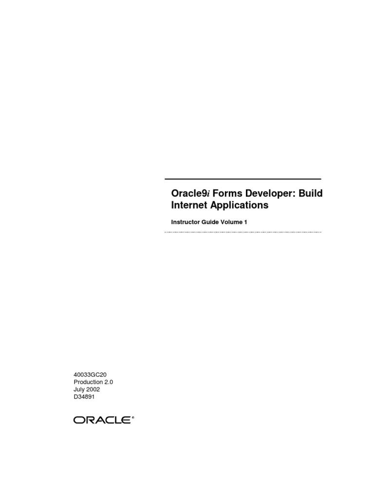 (Oracle) Oracle9i Forms Developer - Build Internet Applications Vol1 (Pam  Gamer)   Pl/Sql   Oracle Database