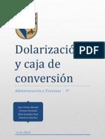Dolarización y caja de conversión