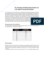 3.1 Determinando el tiempo de Reducción decimal con los datos de supervivencia microbiana