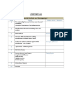 Lesson Plan - Fam & Cf -Wic