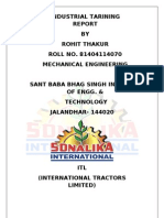 sonalika training report