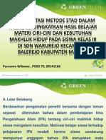 Implementasi Metode Stad Dalam Usaha Meningkatkan Hasil Belajar (Purnomo Wibowo)