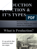 Presentation on Production Function