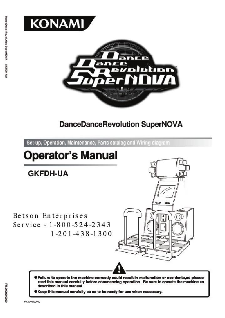 ddr supernova manual all parts 1 9 single file switch slot machine rh scribd com