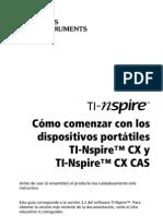 TI-Nspire CX-HH GettingStarted ES
