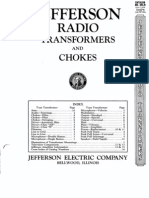 Jefferson 1930 Transformer Catalog