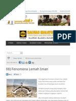 Fenomena Lemah Iman