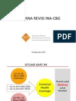 Rencana Revisi INA -CBG