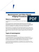 Mammograms and Other Breast Imaging Procedures