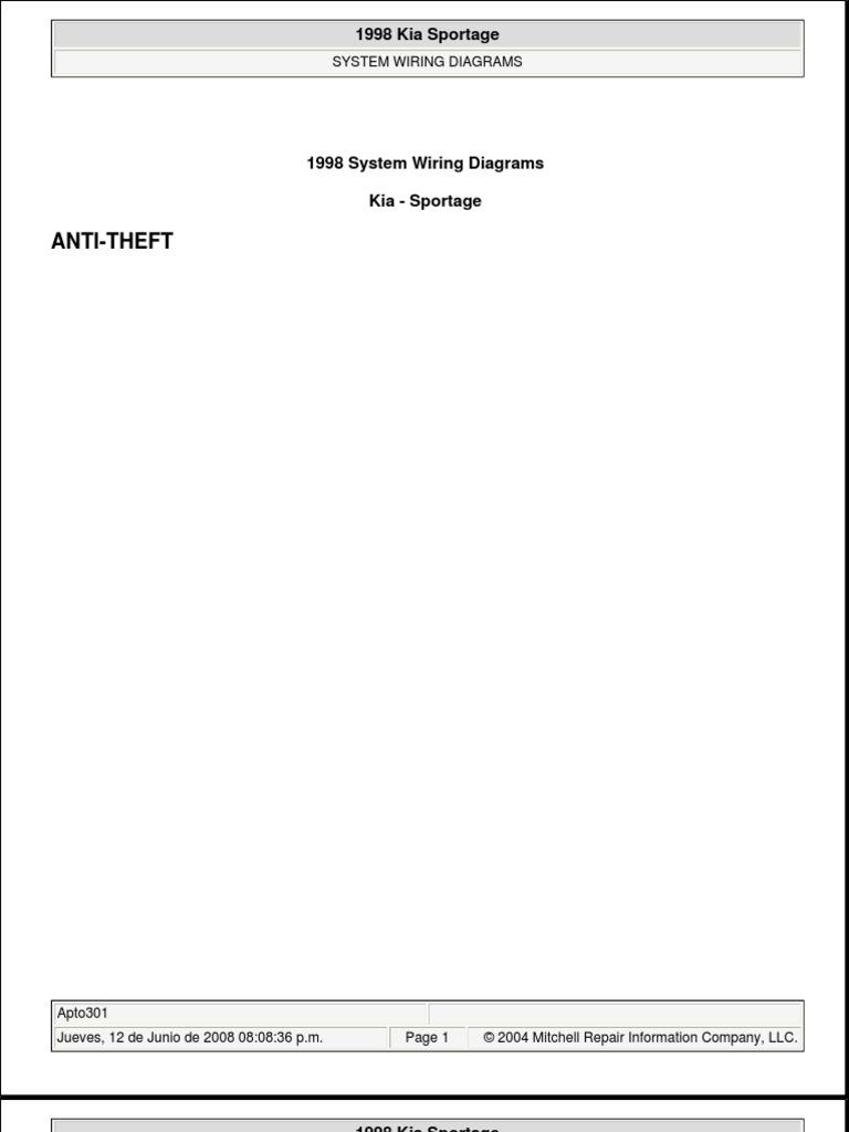 Kia Sportage Wiring Diagrams 1998   Vehículos terrestres   CocheScribd