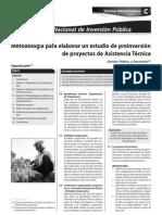 METODOLOGIA PARA ELABORAR UN ESTUDIO DE PREINVERSION DE PROYECTOS DE ASISTENCIA TÉCNICA 2DA. PARTE