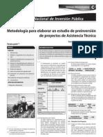 METODOLOGIA PARA ELABORAR UN ESTUDIO DE PRE INVERSIÓN DE PROYECTOS DE ASISTENCIA TÉCNICA 3ERA.PARTE