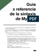COMANDOS Y SINTASIS MYSQL