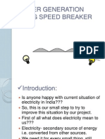 POWER GENERATION USING SPEED BREAKER PPT