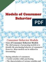 Economic  Model of Consumer behavior