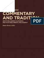 Pierluigi Donini, Commentary and Tradition. Aristotelianism, Platonism and Post-Hellenistic Philosophy