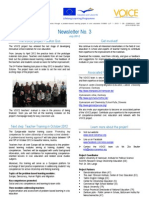 VOICE Newsletter No 3 M18 English