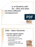 Introduction to IDEA and Student Discipline