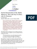 Jared Israel-On The Demonization Of The Media Milosevic