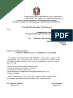 Convocazione Riunione Presidenti di Consulta 5 dicembre