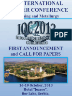 IOC 2013 - First Announcement and Call for Papers