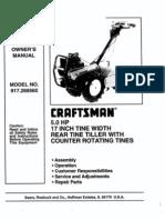 L0909241 Tiller Manual