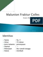 Malunion Fraktur Colles