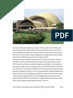 Analisa Struktur Atap Bentang Lebar Keong Mas