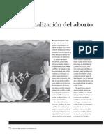 La despenalización del aborto