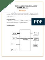 Metal Detector Robot Control Using RC5 Protocol